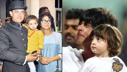 Amir and Shahrukh with their Kids