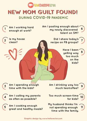 Overcoming Mommy Guilt - Infographic