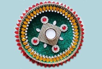 Karwa Chauth Puja Thali Designs 09