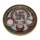 Karwa Chauth Puja Thali Designs 15