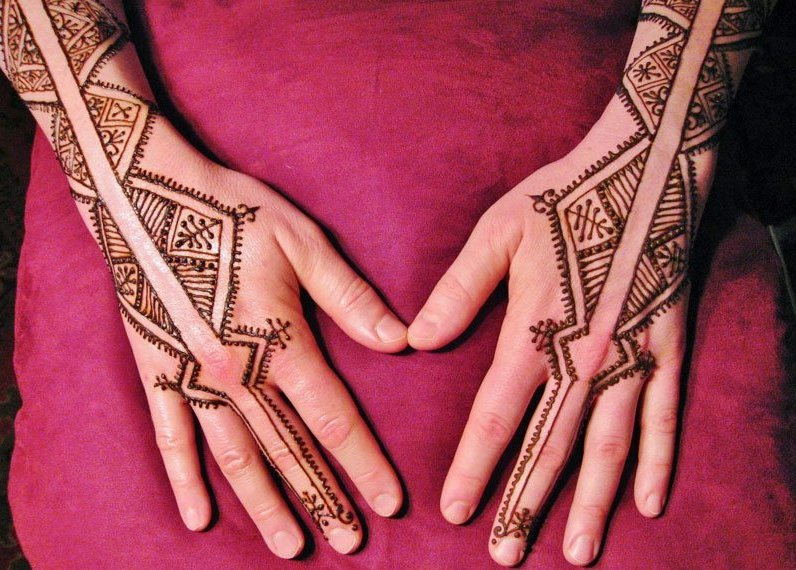 Back side of the hands in mehndi - new mom mehndi designs 03