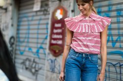 summer fashion trends and ideas - Pink top and jeans