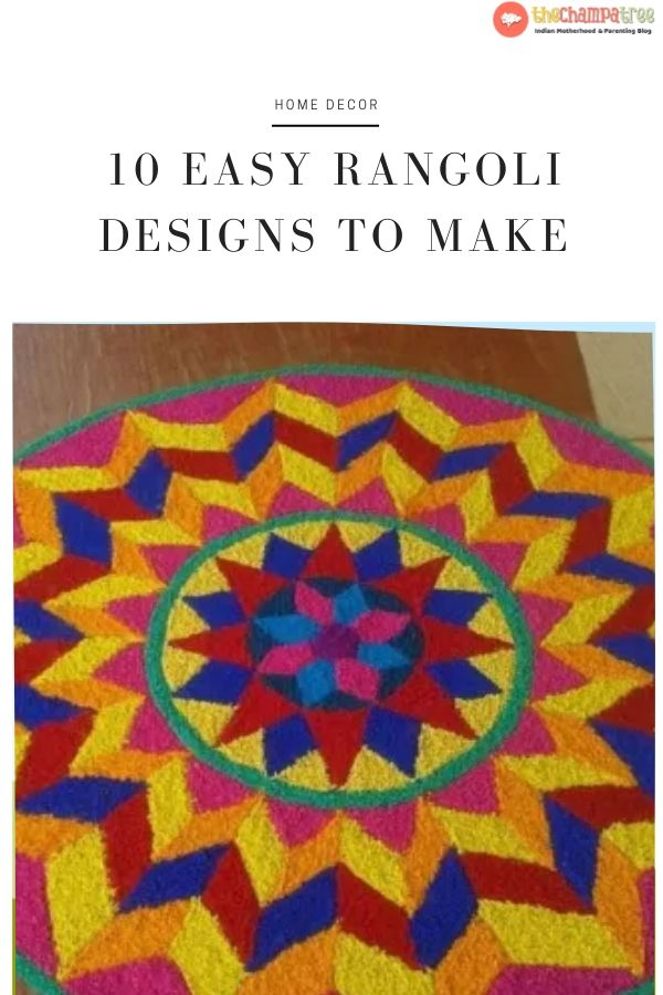 Rangoli Designs To Make using Holi Colors - Easy