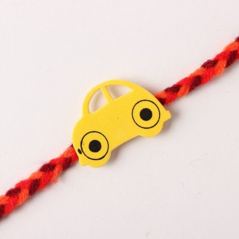 How To Make Rakhi At Home 03 - car rakhi