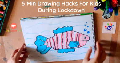 Drawing Hacks For Kids - Fish drawing with hands