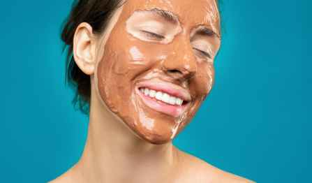 Beauty tips for face - A woman with mud pack