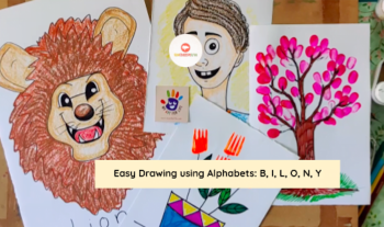 Easy Drawing For Kids With Alphabets – Lion, Boy, And More