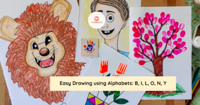 Easy Drawing For Kids With Alphabets - B, I, L, O, N, Y