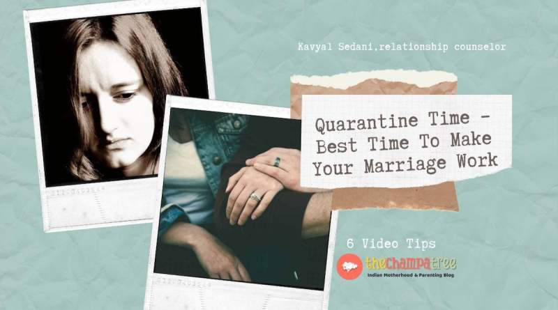 Quarantine Time – Best Time To Make Your Marriage Work - sad wife happy husband wife