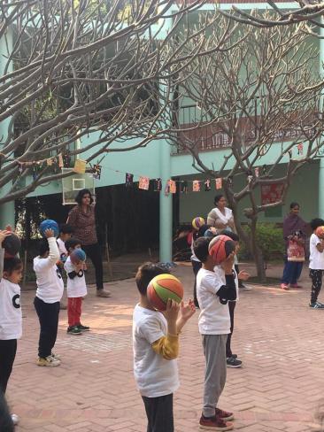 Summer Vacations - kids playing basket ball