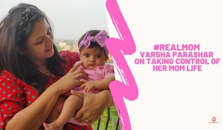 Real Mom Varsha Parashar holding her baby
