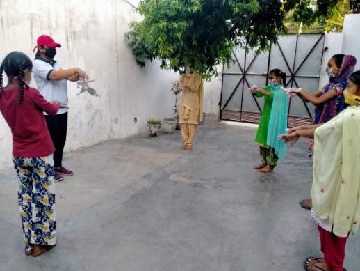 Committed To Care - Kids playing Sports with their masks on