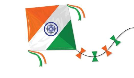 Independence Day Messages for Indian Soldiers on kite