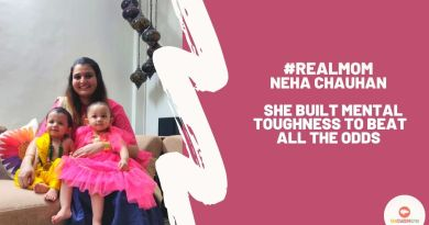 Real Mom Neha Chauhan with her twins
