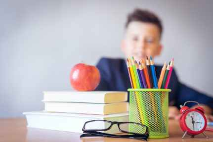School Admission - Boy studying