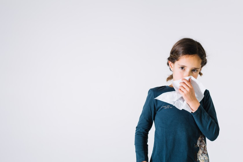 Cough in kids - Girl with allergy
