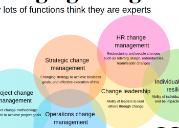 Why lots of functions think they are all experts in managing change