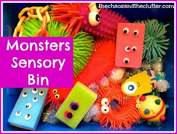 Monsters Sensory Bin