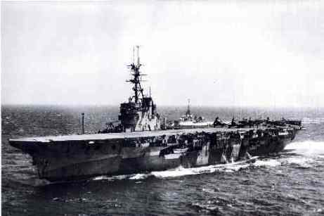 HMS Glory - the base of Charles's days in the navy