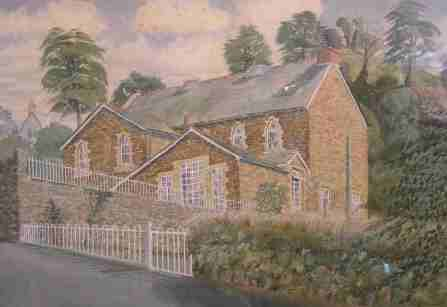 The National School: Where Charles taught for most of his working life (Painting by Norman Preston)