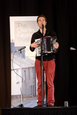 Jim Causley, Launceston Town Hall, the opening of Charles Causley's House, July 2014
