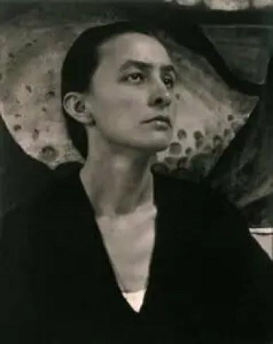 Georgia O'Keeffe photographed by Alfred Stieglitz. 1920. Silver Gelatin Print.