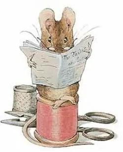 mouse by artist Beatrix Potter