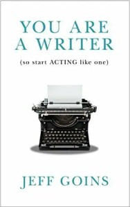 Cover of you are a writer , book by Jeff Goins. 5 Best Books on Writing for Artists post