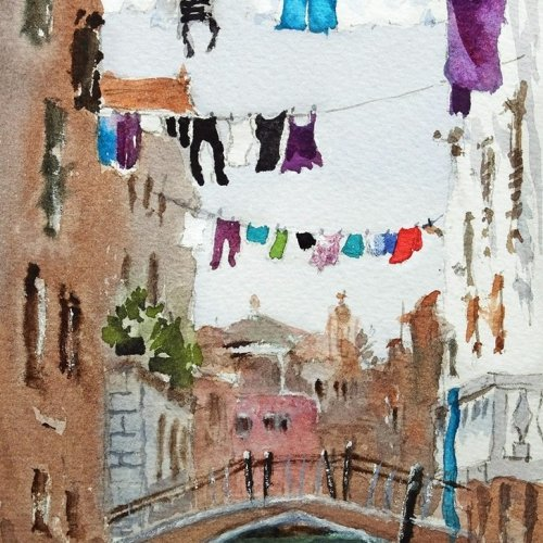 Drying Time watercolor of Venice for Why Artists Should Go On Vacation Post