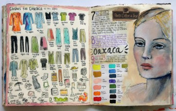 """""""Personal Journal Page, """"2014, by Judy Wise. Acrylic on paper,16""""x10"""". Copyright © 2014 Judy Wise. Used by permission of artist."""