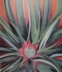 """Pineapple Bud"" oil on canvas by Georgia O'Keeffe. 1939."