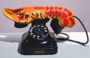 Salvador Dali's sculpture Lobster Telephone at Tate Liverpool, fair use.