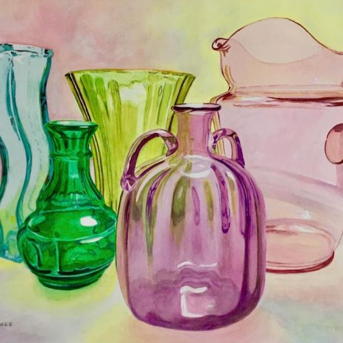Glass bottles painting for aromatherapy for artists post