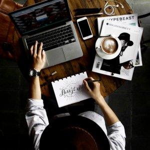 journalist typing