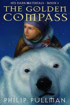 Cover of children's book The Golden Compass by Phillip Pullman
