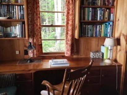 Rachel Carson's study at her Maine cottage.
