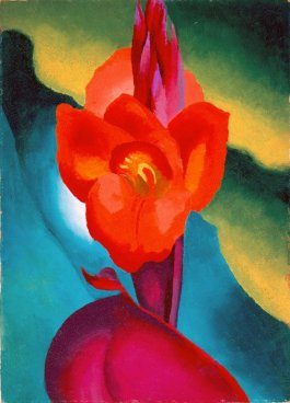 Georgia O'Keeffe ( subject to troll like critical attack in print) painted anyway, Red Canna, 1919, High Museum of Art, Atlanta