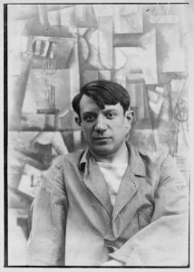 Portrait photograph of Pablo Picasso (rival of Matisse)