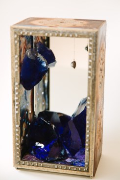 """""""Cobalt Blue Chunk,"""" mixed media sculpture 2014 by Thea Fiore-Bloom. Founder of The Charmed Studio and owner of Enchanted Museum</a>."""