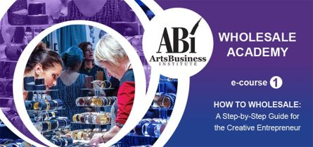 Purple graphic featuring jewelers at work. Want to make it in museum stores? This ABI wholesale academy course can help.