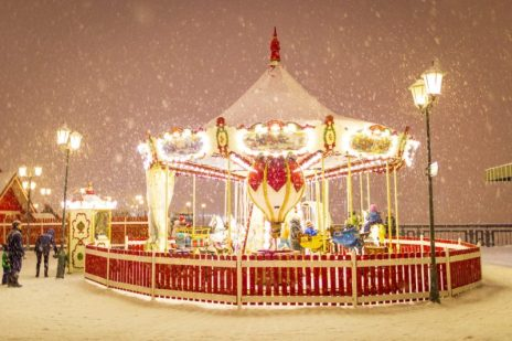 carousel in winter.