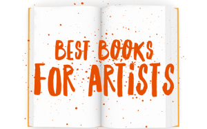 graphic saying Best Books For Artists