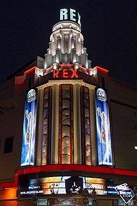 image of art deco movie palace , the Grand Rex Movie Theatre, Paris 1932.