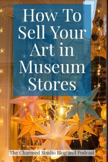Image of museum store with lovely lights, for museum store post