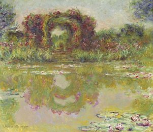 """Rose Arches At Giverny,"" By Claude Monet. 1913."