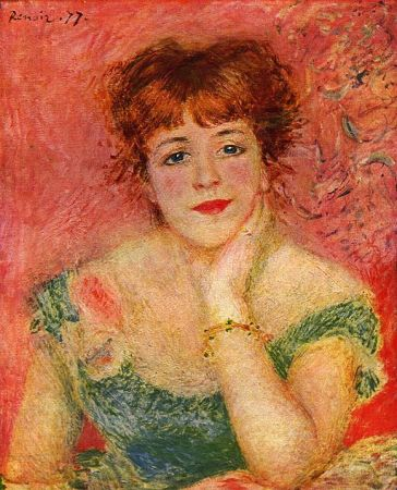 Renoir was painting works like this (actress Jeanne Sammary) while the music of impressionism was being performed in Paris.
