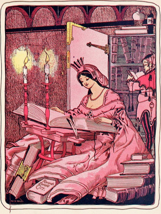Illustration from the Marvelous Land of Oz, here illustrating an artist in her Charmed Studio