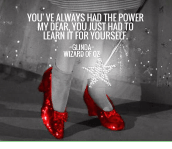 Glinda' quote to Dorothy, prioritization for artists post