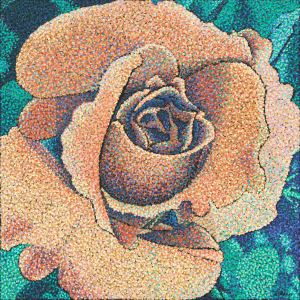 rose painting, blog post topics for artists, Rebecca Bangs