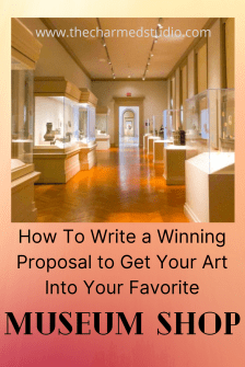 How to submit your art to a museum shop graphic